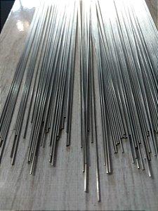 DUPLICADO - Arame de Aço Inox Polido - 1 metro x 1,2 mm - Pacote com 10 Kg.