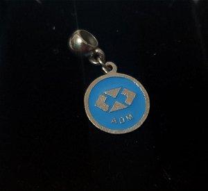 Pingente berloque Administração em aço esmaltado cor azul
