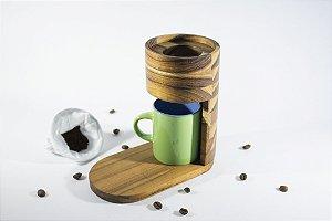 Cafeteira Coffeebreak - Classe e Elegância à mesa - Coador de Café passado em Madeira Nobre TECA