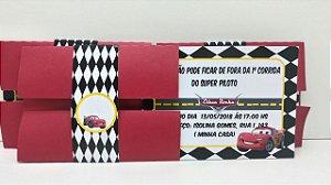 Convite com envelope Carros