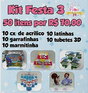 Kit festa 50 Itens