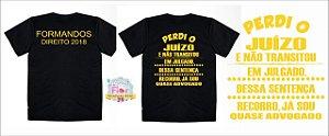 30 camisetas Tema Direito Frente e Verso