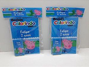 10 Revista de colorir Jorge Pig