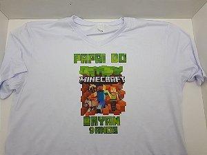 Camiseta Minekraft (P M G GG  e Infantil)