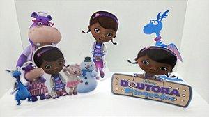 5 totens de mesa Doutora Brinquedo (Feitos em Papel 230g)