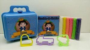 Maletinha + Massinha de modelar + 3 cortadores Tema Pequeno Príncipe