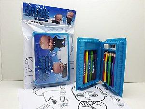 Estojo Maleta P Colorir 18 Peças Poderoso Chefinho 30 unidades (Frete Gratis)