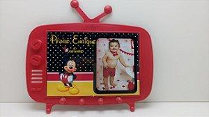 10 Centro de mesa TV Retrô Mickey Com foto e Suporte atrás
