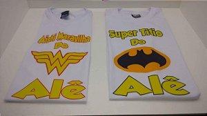 Camiseta heróis (Todos os Personagens)