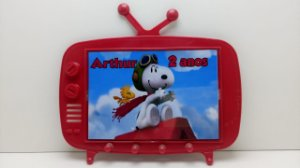 10 Centro de Mesa TV Retrátil Snoopy 2 em 1 (Vira porta chaves)