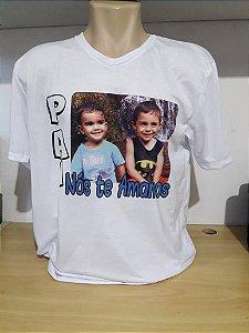 Camiseta com foto dia dos pais