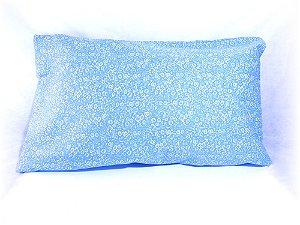 Jogo de fronhas floral azul