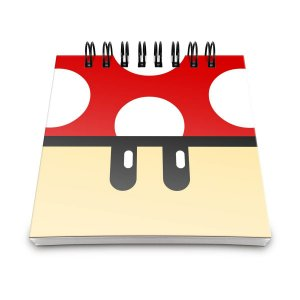 Bloquinho de anotações cogumelo vermelho