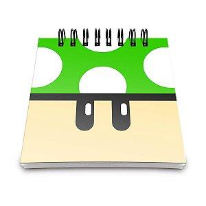 Bloquinho de anotações cogumelo verde