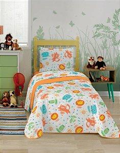 Jogo de cama solteiro safari 3 peças