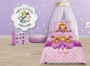 Jogo de cama solteiro Princesa 3 peças