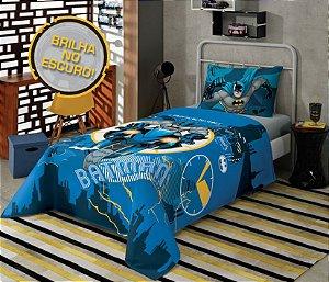 Jogo de cama solteiro Batman 3 peças