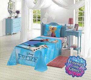 Jogo de cama solteiro Frozen 3 peças