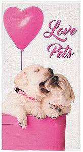 Toalha aveludada Pet Love