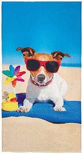 Toalha aveludada Summer Dog