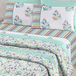 Jogo de cama Casal Herbal 4 peças