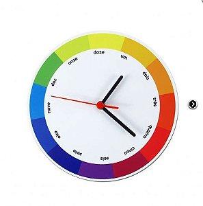 Relógio de Parede Disco Cromático