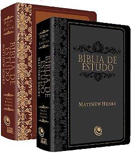 BÍBLIA DE ESTUDO — MATTHEW HENRY PRETO/MARROM