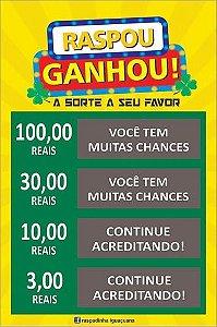 Raspadinha Personalizada 9x5 - 180g  4/0 ou 4/1