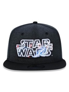 Boné New Era Original Star Wars 9FifTy Aba Reta Preto