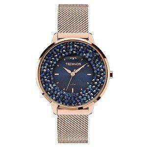 Relógio Feminino Technos Elegance Cristal Mod: 2035MLE4A