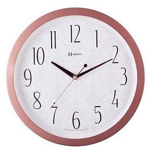 Relógio de Parede Herweg Analógico Rosa com Branco 6811319