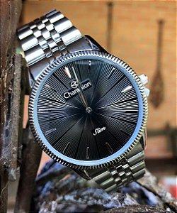 Relógio Maculino Champion Prata com Preto Mod: CA21820D