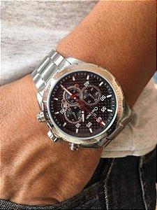Relógio Champion Maculino Cronógrafo Prata e Preto CA30383T