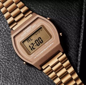 Relógio Casio Vintage Digital b640wc-5adf Rose