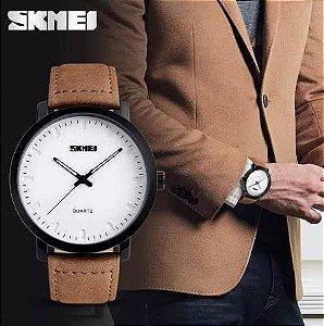 Relógio Masculino Analógico Skmei Mod:1196 Pulseira em Couro