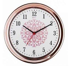 Relógio de Parede Herweg Analógico Rosa com Branco 660013309