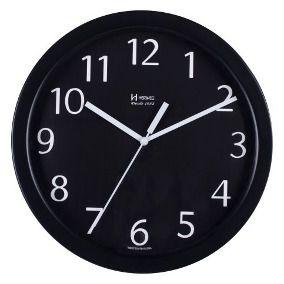 Relógio de Parede  Herweg Analógico Preto Mod 6718034