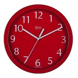 Relógio de Parede Quartz Herweg Analógico Vermelho Mod 6718044