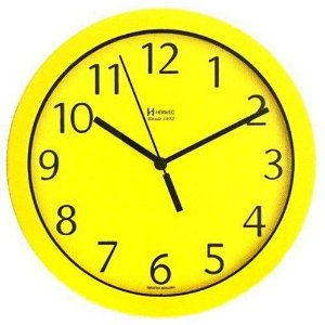 Relógio de Parede Herweg Analógico Amarelo e Preto 6718268
