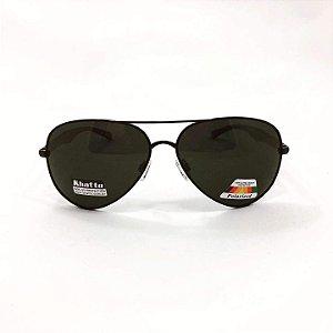 Óculos de Sol Unissex Khatto Aviador Preto Polarizado