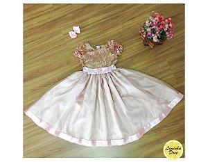 Vestido de Luxo Rose para Daminhas - Infantil
