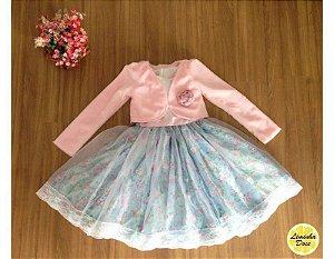 Conjunto Vestido Floral e Bolero – Infantil