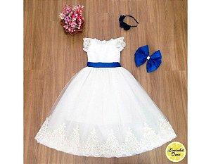 Vestido de Daminha Tule Francês  - Infantil