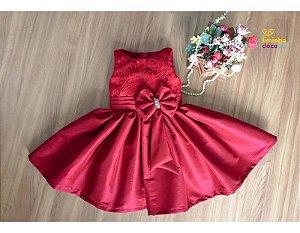 Vestido de Princesa na Cor Marsala - Infantil