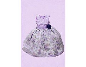Vestido de Daminha com Tafetá e Organza - Infantil