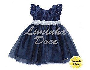 Vestido Social Azul Marinho - Infantil