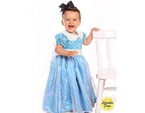 Vestido Azul de Daminha de Luxo - Infantil