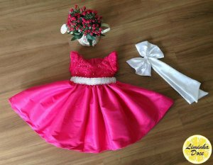 Vestido para Festa Rosa Pink - Infantil