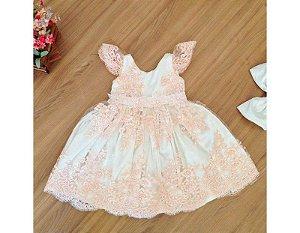 Vestido de Daminha de Luxo Rose - Infantil
