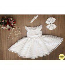 Vestido de Organza Listrada - Infantil